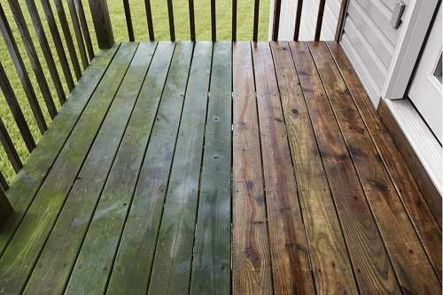 Wooden Floor Washed With PowerStroke Pressure Washer