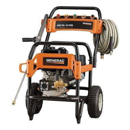 Generac 6565 Gas Powered Commercial Pressure Washer On White Background