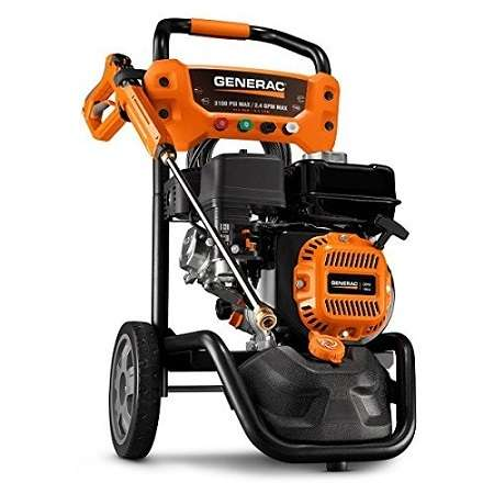Generac 7019 Gas Powered Pressure Washer On White Background