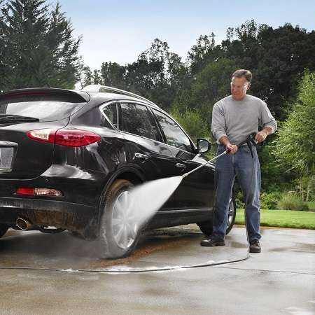 Washing Car With PowerStroke Pressure Washer