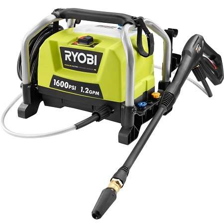 Ryobi ZRRY141600 Electric Pressure Washer On White Background