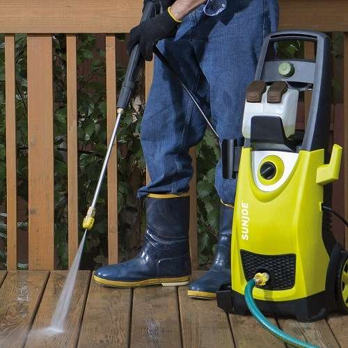 washing patio with a sun joe 3000 pressure washer